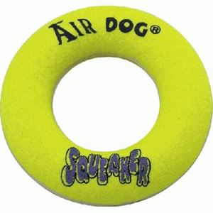 """Picture of Kong Air Squeaker Donut Dog Toy Large Yellow 10"""" x 6.5"""" x 2.3"""""""