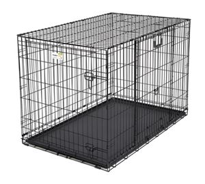"Picture of Midwest Ovation Double Door Crate with Up and Away Door Black 25.50"" x 17.50"" x 19.50"""