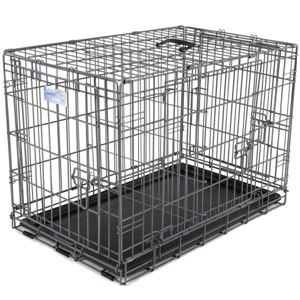 "Picture of Midwest Ultimate Pro Triple Door Dog Crate Black 49"" x 30"" x 34.50"""