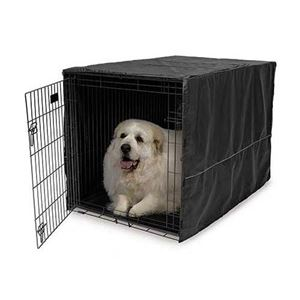 "Picture of Midwest Quiet Time Pet Crate Cover Black 48.5"" x 31"" x 31"""