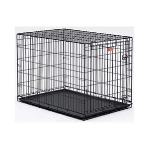 "Picture of Midwest Life Stages Single Door Dog Crate Black 48"" x 30"" x 33"""