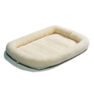 "Picture of Midwest Quiet Time Fleece Dog Crate Bed White 54"" x 35"""
