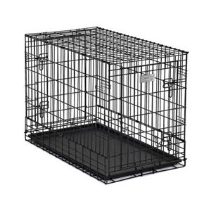 "Picture of Midwest Solutions Series Side-by-Side Double Door SUV Dog Crates Black 36"" x 21"" x 26"""