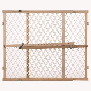 "Picture of North States Easy Adjust - Diamond Mesh Pet Gate White, Wood 26.5"" - 42"" x 23"""