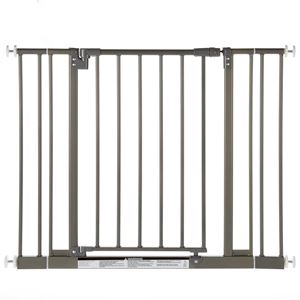 "Picture of North States Easy-Close Wall Mounted Steel Pet Gate Gray 28"" - 38.5"" x 29"""