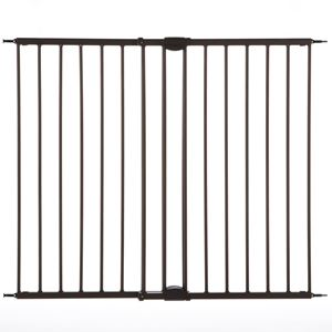 "Picture of North States Easy Swing and Lock Wall Mounted Pet Gate Matte Bronze 28"" - 48""  x 31"""
