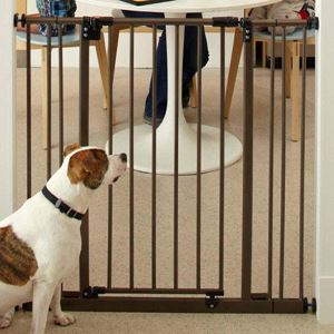 """Picture of North States Extra Tall Deluxe Easy-Close Pressure Mounted Pet Gate Brown 28"""" - 38.5"""" x 36"""""""