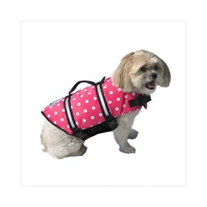Picture of Paws Aboard Dog Life Jacket Large Pink Polka Dot