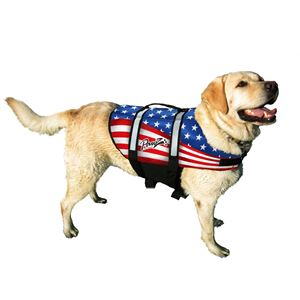 Picture of Pawz Pet Products Nylon Dog Life Jacket Extra Small Flag