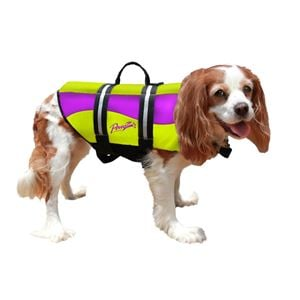 Picture of Pawz Pet Products Neoprene Dog Life Jacket Medium Yellow / Purple