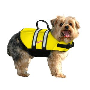 Picture of Pawz Pet Products Nylon Dog Life Jacket Extra Extra Small Yellow