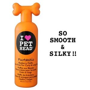 "Picture of Pet Head Furtastic Crème Rinse for Curly and Long Coat Blueberry Muffin 16oz 9"" x 3"" x 2.5"""