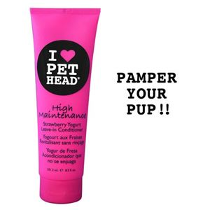 """Picture of Pet Head High Maintenance Leave In Conditioner Strawberry Yogurt 8.5oz 8.5"""" x 2.5"""" x 1.75"""""""