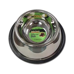 "Picture of PetEdge No-Tip Non-Skid Stainless Steel Bowl 32 oz. 8"" x 8"" x 3"""