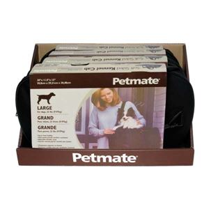 "Picture of Petmate Soft Sided Pet Kennel Cab Large Black 20"" x 11.5"" x 12"""