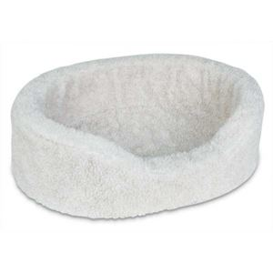 "Picture of Petmate Plush Lounger Dog Bed Extra Small Natural Berber 21"" x 16"" x 7"""
