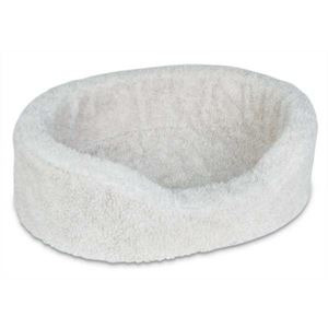 "Picture of Petmate Plush Lounger Dog Bed Large Natural Berber 36"" x 24"" x 8"""