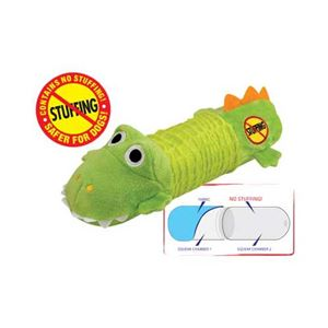 Picture of Petstages Stuffing Free Big Squeak Gator Green