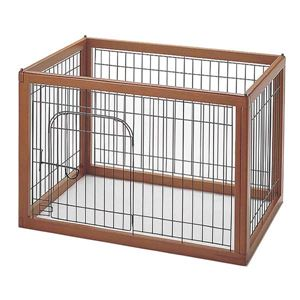 "Picture of Richell Wood Pet Pen 90-60 Autumn Matte 35.4"" x 24"" x 23.8"" *** DISCONTINUED ***"