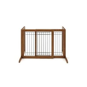 "Picture of Richell Freestanding Pet Gate Small Autumn Matte 26.4"" - 40.2"" x 17.7"" x 20.1"""