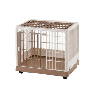 "Picture of Richell Pet Training Kennel PK-650 White / Mocha 25.4"" x 19.7"" x 22"""