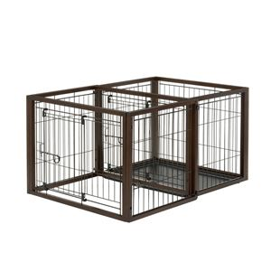 "Picture of Richell Flip To Play Pet Crate Small Brown 31.9"" x 23.4"" x 24.4"