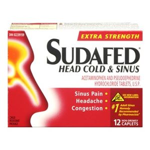 Picture of Sudafed Head and Cold Sinus