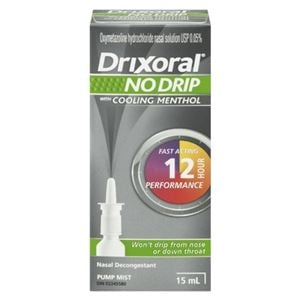 Picture of Drixoral NO DRIP with Menthol Nasal Decongestant