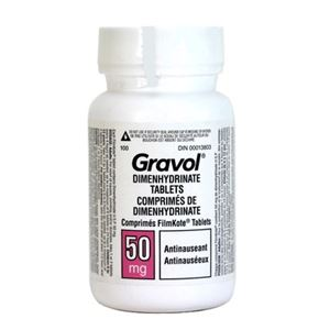 Picture of Gravol Dimenhydrinate Tablets ** NOT AVAILABLE **