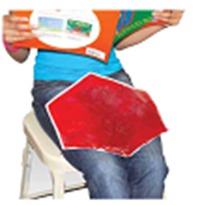 Picture of Weighted Lap Pads: Rectangular - Red