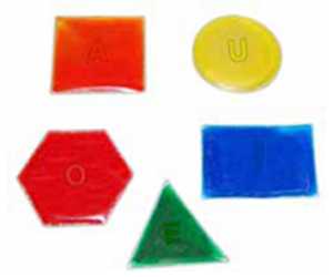 Picture of Hidden Letter Glitter Shapes: R.S.T.L.N.