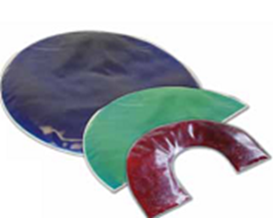 Picture of Weighted Lap Pads: Half-Circle - Green