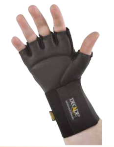 Picture of Anti-Vibration Half Finger Wheelchair Gloves with Cuff-Large-XX Large, Left