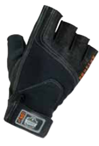 Picture of Half Finger Econo Impact Gloves- Large