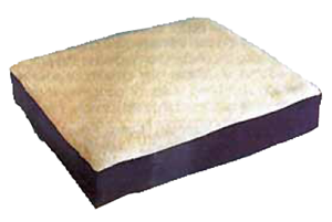 "Picture of Gel Wheelchair Cushion with Fleece Top 16""x16""x3.5"""