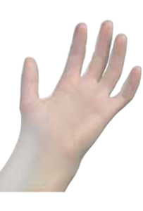 Picture of Examination Grade Vinyl Gloves Powdered -X Small
