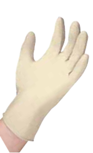 Picture of Examination Grade Latex Gloves Powder Free- Large