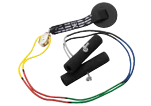 Picture of Color-Coded Shoulder Exerciser - Set with Pulley and Disc Anchor - Cord is 6 ft of 3 ft (each side) when hung on the door