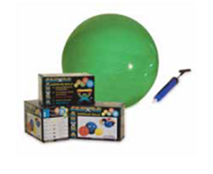 "Picture of Exercise Ball with Pump: Ball and Pump Set - 30"" / 75 cm (Weight Capacity: 300 lbs / 136 kg)"