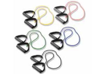 "Picture of Exercise Tubing with Handles: 5 Piece Set - 36"" / 91 cm"
