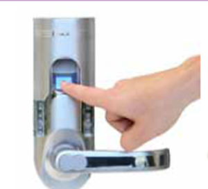Picture of Bio-Matic™  Weather Resistant Fingerprint Recognition Door Lock - Left Handled