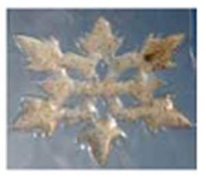 Picture of Light Box Gel-Maze Series: 6 Spoke Snow Flake - Yellow