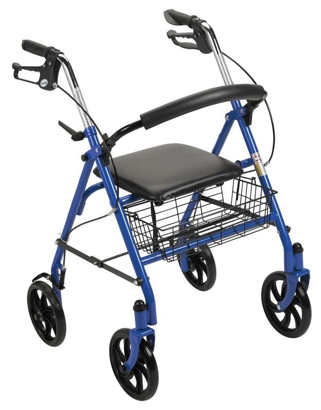 "Picture of Four Wheel Rollator Walker with 7.5"" Casters"