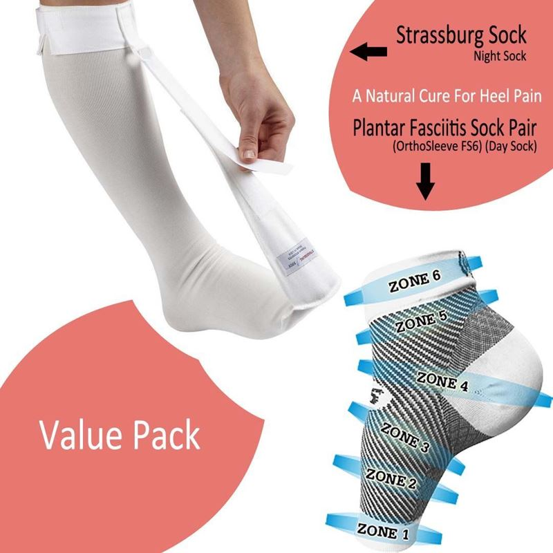 Picture of Strassburg Sock & Plantar Fasciitis Sock (FS6) Combo Pack