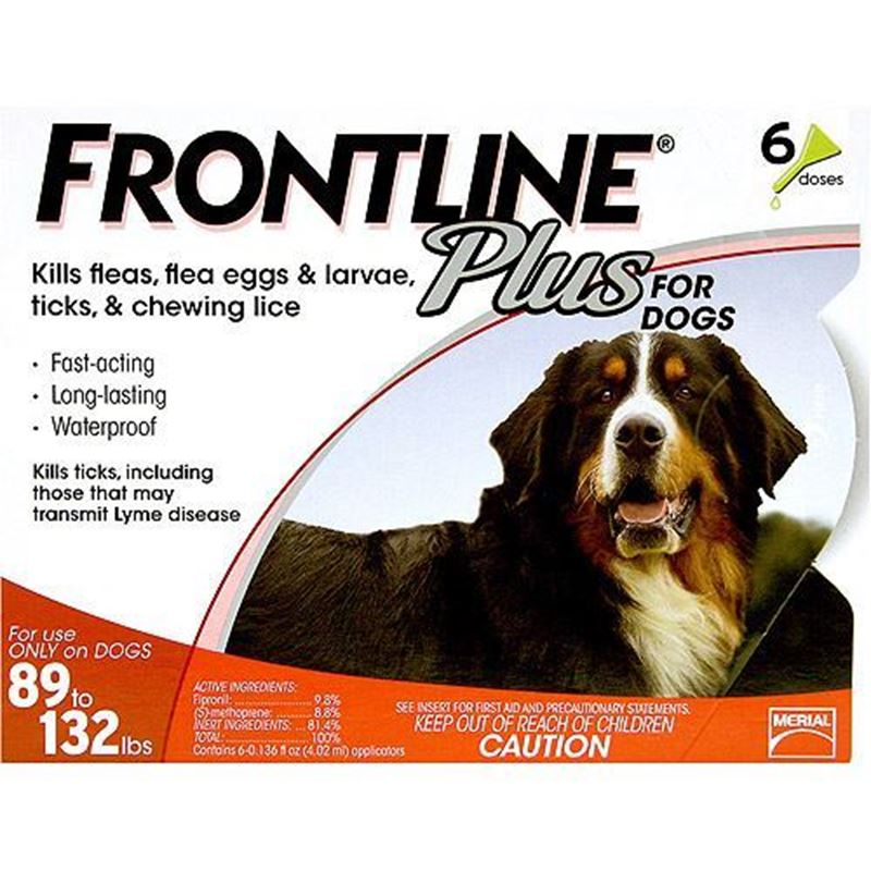 Picture of Frontline Plus Extra Dogs 89-132 lbs 6 Pack