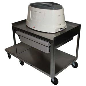 Picture of Paraffin Cart - 2 Shelf with Drawer, Stainless