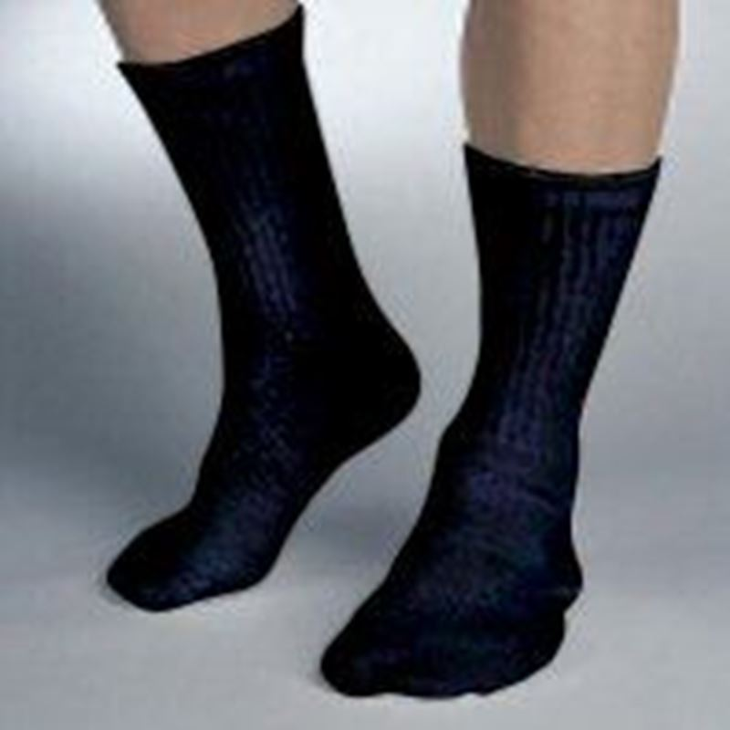 Picture of SensiFoot Crew Sock Black/Medium