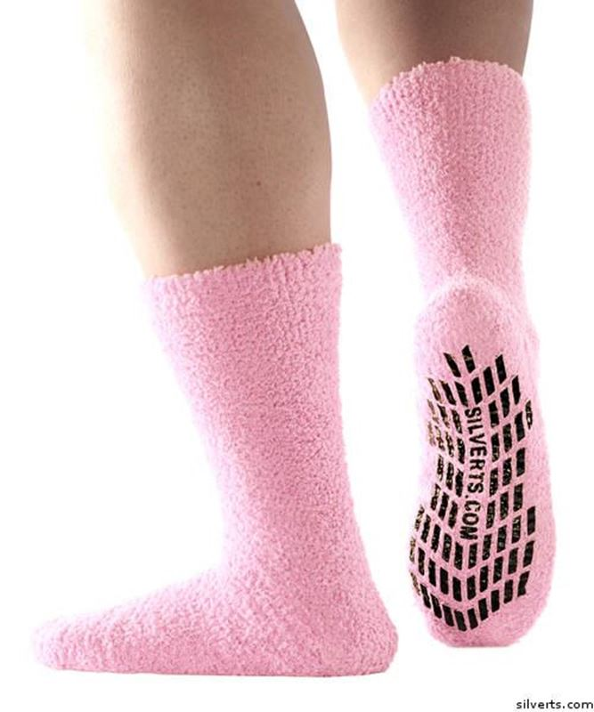 Picture of Non Skid / Anti Slip Grip Socks For Women / Mens/Bariatric