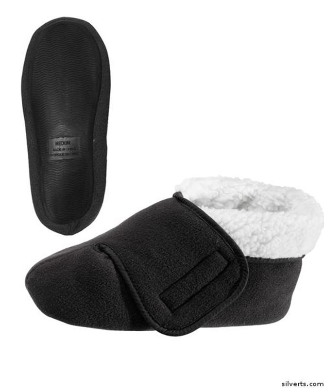Picture of Womens and Mens Deep Wide Diabetic Bootie Slipper