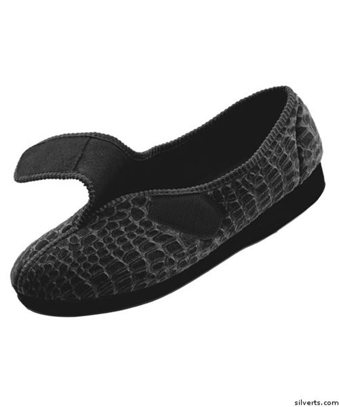 Picture of Womens Extra Wide Comfort House Slippers With Adjustable Closures